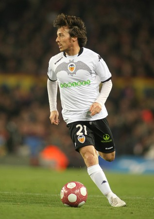 silva: David Silva of Valencia CF in action during a Spanish League match between FC Barcelona and Valencia at the Nou Camp Stadium on March 14, 2010 in Barcelona, Spain