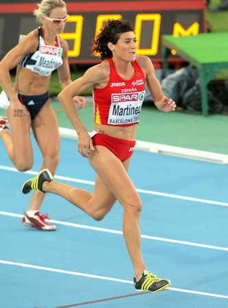 finalistin: Mayte Mart�nez Spaniens konkurrieren in der Frauen 800 m w�hrend der 20 Leichtathletik-Europameisterschaft im Olympiastadion am Juli 27, 2009 in Barcelona, Spanien.