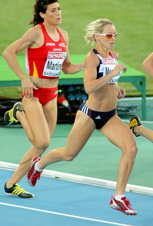 jennifer: Jennifer Meadows of Great Britain compete in the Women 800m during the 20th European Athletics Championships at the Olympic Stadium on July 27, 2010 in Barcelona, Spain.