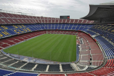 Futbol Club Barcelona Stadium, where take place the matches of First division soccer team, in Barcelona on August 7, 2008 Stock Photo - 9880712