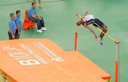 finalistin: Martyn Bernard von Gro�britannien konkurriert auf M�nner Hochsprung w�hrend der 20 Leichtathletik-Europameisterschaft im Olympiastadion am Juli 29, 2009 in Barcelona, Spanien