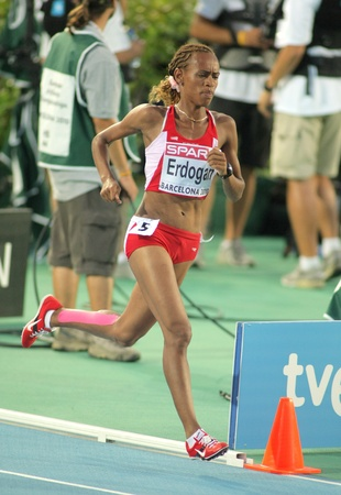 Meryem Erdogan of Turkey during 5000m women final of the 20th European Athletics Championships at the Olympic Stadium on August 1, 2010 in Barcelona, Spain Stock Photo - 8461477