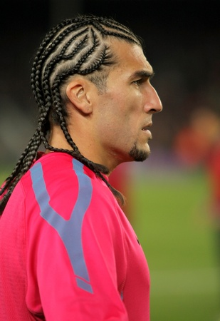manuel: Jose Manuel Pinto of FC Barcelona before spanish league match between FC Barcelona and Sevilla FC at Nou Camp Stadium on October 30, 2010 in Barcelona, Spain