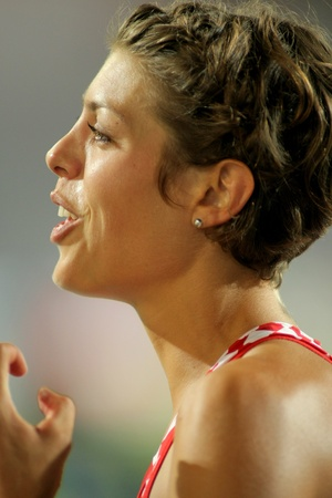 Blanka Vlasic of Croatia during High Jump Final of the 20th European Athletics Championships at the Olympic Stadium on August 1, 2010 in Barcelona, Spain Stock Photo - 8607894