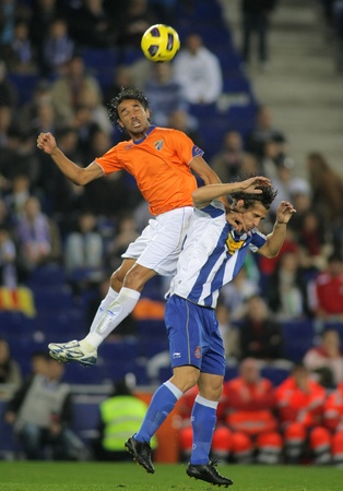 Weligton of Malaga in action during spanish league match between Espanyol and Malaga CF at the Estadi Cornella on November 6, 2010 in Barcelona, Spain