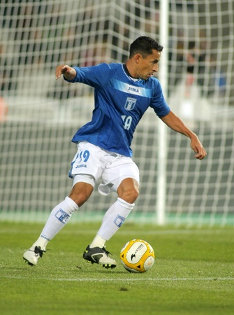 Honduran player Ivan Guerrero in action during the friendly match between Catalonia vs Honduras at Olympic Stadium in Barcelona, Spain. Dec. 28, 2010
