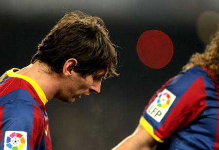 Messi of Barcelona during a Spanish Cup match between FC Barcelona and Real Betis at the Nou Camp Stadium on January 12, 2011 in Barcelona, Spain Stock Photo - 8757061