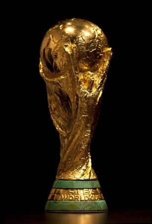 FIFA World Cup trophy exhibed at the Olympic museum on January 14, 2011 in Barcelona, Spain