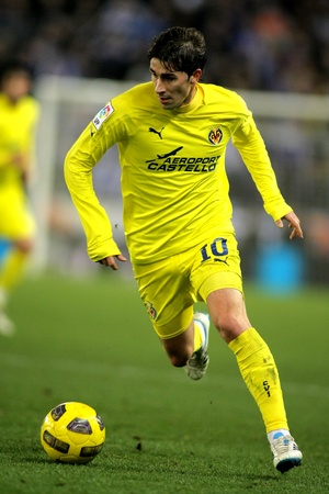 Cani of Villareal during a Spanish League match between Espanyol and Villareal at the Estadi Cornella on January 30, 2011 in Barcelona, Spain