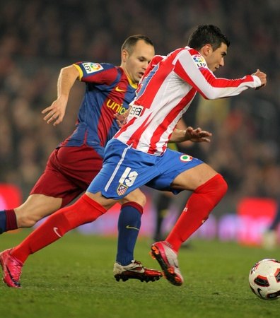 Jose Antonio Reyes of Atletico Madrid during the match between FC Barcelona and Atletico Madrid at the Nou Camp Stadium on February 5, 2011 in Barcelona, Spain