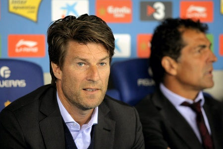 midfielder: Michael Laudrup of Mallorca during the match between Espanyol and Real  Mallorca at the Estadi Cornella on March 1, 2010 in Barcelona, Spain Editorial