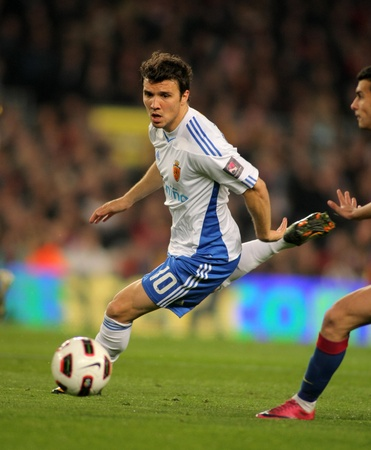 Nicolas Bertolo of Zaragoza during the match between FC Barcelona and Real Zaragoza at the Nou Camp Stadium on March 5, 2011 in Barcelona, Spain Stock Photo - 9036305