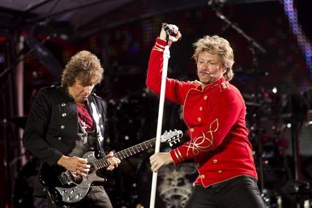 """performs: Americano, Hard Rock Band Bon Jovi esegue la """"Open Air 2011"""", concerto Tour di Barcellona, ??allo Stadio Olimpico il 27 luglio 2011 a Barcellona, ??Spagna Editoriali"""