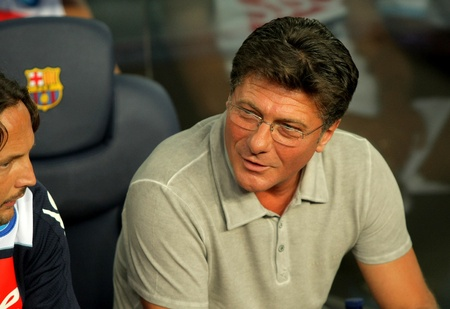 Walter Mazzarri coach of SSC Napoli during Joan Gamper Trophy match between FC Barcelona and SSC Napoli at Nou Camp Stadium in Barcelona, Spain. August 22, 2011