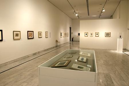 初期年絵画展スペインの画家パブロ ・ ピカソのピカソ美術館の 2002 年 10 月 15 日バルセロナ、スペイン 報道画像