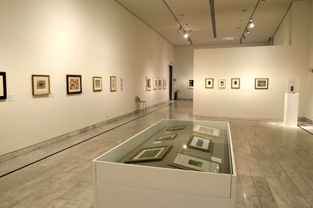 Early years painting exhibition of Spanish painter Pablo Picasso at the Picasso Museum October 15, 2002 in Barcelona, Spain