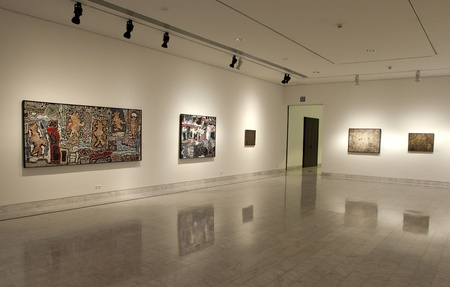 Early years painting exhibition of Spanish painter Pablo Picasso at the Picasso Museum October 15, 2002 in Barcelona, Spain. Editorial