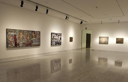 mus�e: Les premi�res ann�es de peinture exposition de peintre espagnol Pablo Picasso au Mus�e Picasso Octobre 15, 2002 � Barcelone, Espagne.