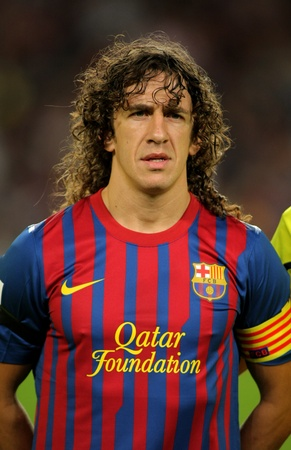 Carles Puyol of FC Barcelona posing before the spanish league match against Osasuna at the Nou Camp Stadium on September 17, 2011 in Barcelona, Spain