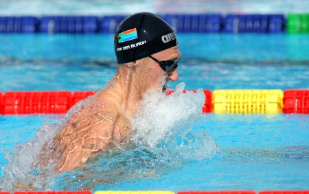 burgh: South African swimmer Cameron van der Burgh swimming breakstroke during the Mare Nostrum meeting in Barcelona