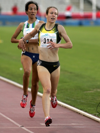 scotish: Stephanie Twell of Greart Britain in action during 1500m Event of Barcelona Athletics meeting at the Olympic Stadium on July 18, 2007 in Barcelona, Spain