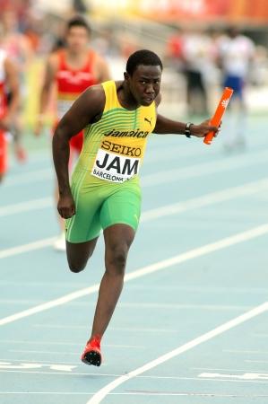 finalistin: Jazeel Murphy von Jamaika Sprinten w�hrend der 20. World Junior Athletics Championships im Olympiastadion am 13. Juli 2012 in Barcelona, ??Spanien Editorial