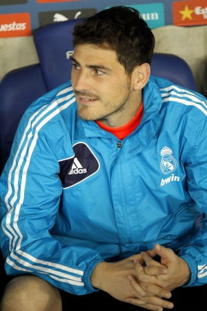 Iker Casillas of Real Madrid during the Spanish League match between Espanyol and Real Madrid at the Estadi Cornella on May 11, 2013 in Barcelona, Spain Editorial