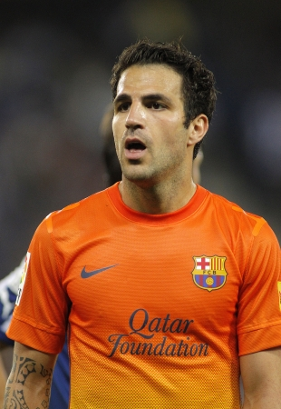 Cesc Fabregas of FC Barcelona during the Spanish League match between Espanyol and FC Barcelona at the Estadi Cornella on May 26, 2013 in Barcelona, Spain Editorial