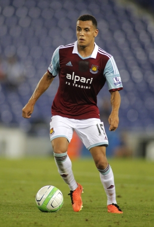 morrison: Ravel Morrison of West Ham United in action during a friendly match against RCD Espanyol at the Estadi Cornella on September 5, 2013 in Barcelona, Spain Editorial