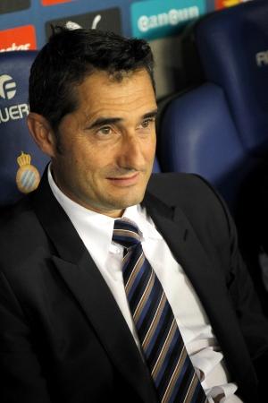 Ernesto Valverde coach of Athletic Bilbao during a Spanish League match between RCD Espanyol vs Bilbao at the Estadi Cornella on September 23, 2013 in Barcelona, Spain