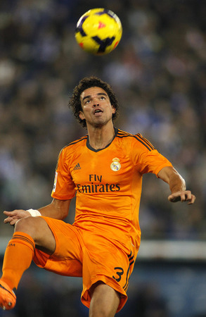 pepe: Pepe Lima of Real Madrid during the Spanish League match between Espanyol and Real Madrid at the Estadi Cornella on January 12, 2014 in Barcelona, Spain Editorial