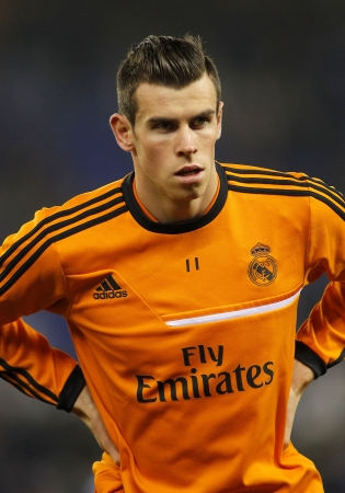 winger: Gareth Bale of Real Madrid during the Spanish League match between Espanyol and Real Madrid at the Estadi Cornella on January 12, 2014 in Barcelona, Spain