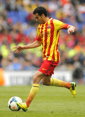 Pedro Rodriguez Ledesma Of FC Barcelona In Action During A