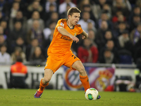 sergio: Asier Illarramendi of Real Madrid during the Spanish Kings Cup match between Espanyol and Real Madrid at the Estadi Cornella on January 21, 2014 in Barcelona, Spain