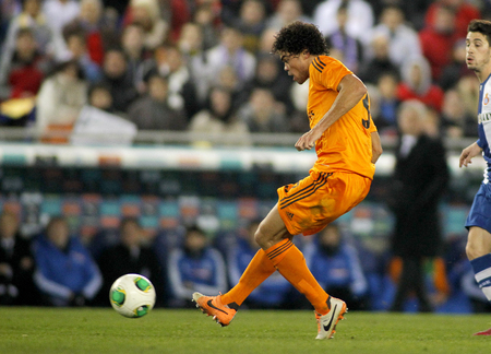 pepe: Pepe Lima of Real Madrid during the Spanish Kings Cup match between Espanyol and Real Madrid at the Estadi Cornella on January 21, 2014 in Barcelona, Spain Editorial