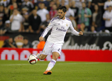 Isco Alarcon of Real Madrid during the Spanish Kings Cup match against UE Cornella at the Estadi Cornella on October 29, 2014 in Barcelona, Spain