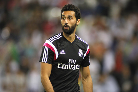 Alvaro Arbeloa of Real Madrid during the Spanish League match between Espanyol and Real Madrid at the Estadi Cornella on May 11, 2013 in Barcelona, Spain Editorial