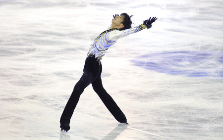 Yuzuru Hanyu of Japan during Men Free Skating event of ISU Grand Prix of Figure Skating Final 2014 in Barcelona at CCIB on December 13, 2014 in Barcelona, Spain Editorial