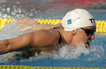piscina olimpica: nadador danesa Jeanette Ottesen mariposa de nataci�n durante el Trofeo Ciutat de Barcelona en Sant Andreu palo 10 de junio de 2015, en Barcelona, ??Espa�a
