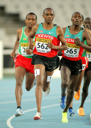 finalist: Philemon Kipchilis Cheboi of Kenya during 10000m event the 20th World Junior Athletics Championships at the Olympic Stadium on July 10, 2012 in Barcelona, Spain Editorial
