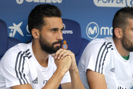 alvaro: Alvaro Arbeloa of Real Madrid during a Spanish League match against RCD Espanyol at the Power8 stadium on September 12 2015 in Barcelona Spain