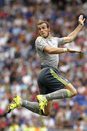 winger: Gareth Bale of Real Madrid during a Spanish League match against RCD Espanyol at the Power8 stadium on September 12 2015 in Barcelona Spain