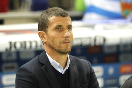 futbol: Javi Gracia manager of Malaga CF during a Spanish League match against RCD Espanyol at the Power8 stadium on November 21 2015 in Barcelona Spain