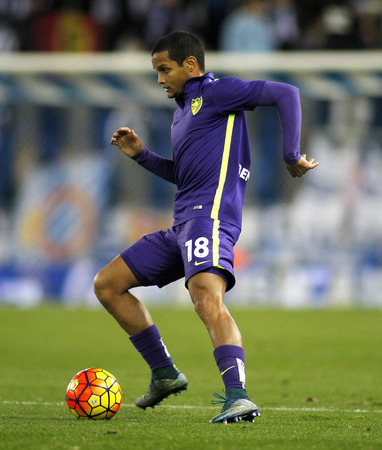 rosales: Roberto Rosales of Malaga CF during a Spanish League match against RCD Espanyol at the Power8 stadium on November 21 2015 in Barcelona Spain