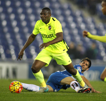 futbol: Simao Mate Junior of Levante UD during a Spanish League match against RCD Espanyol at the Power8 stadium on December 7, 2015 in Barcelona, Spain