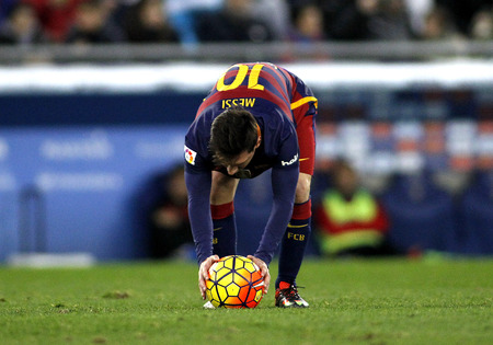 messi: Leo Messi of FC Barcelona during a Spanish League match against RCD Espanyol at the Power8 stadium on January 2, 2016 in Barcelona, Spain