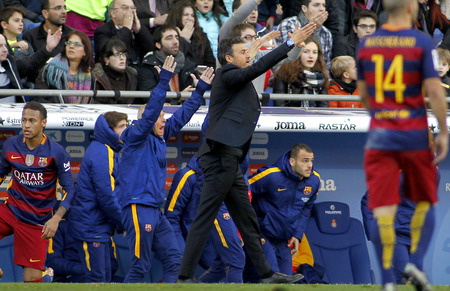 martinez: Luis Enrique Martinez manager of FC Barcelona during a Spanish League match against RCD Espanyol at the Power8 stadium on January 2, 2016 in Barcelona, Spain