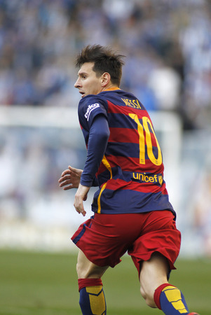 mesi: Leo Messi of FC Barcelona during a Spanish League match against RCD Espanyol at the Power8 stadium on January 2, 2016 in Barcelona, Spain