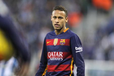 Neymar da Silva of FC Barcelona during a Spanish League match against RCD Espanyol at the Power8 stadium on January 2, 2016 in Barcelona, Spain