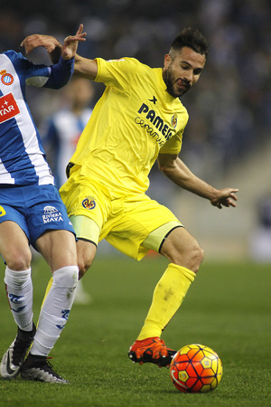 gaspar: Mario Gaspar of Villareal CF during a Spanish League match against RCD Espanyol at the Estadi Cornella on January 23, 2016 in Barcelona, Spain